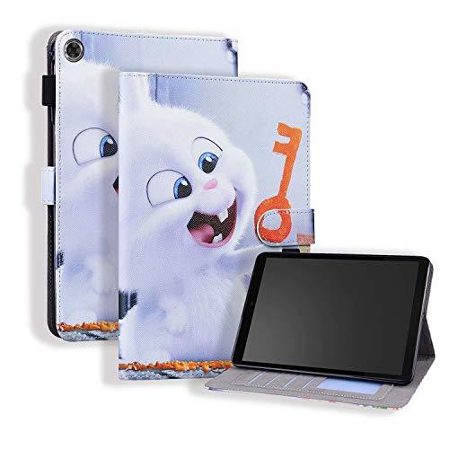 Miagon Hülle für Lenovo Tab M8 TB-8505F TB-8505X 8.0 Zoll,Pu Leder Schutzhülle Case Cover mit Kartensteckplatz Ständer Funktion,Hase