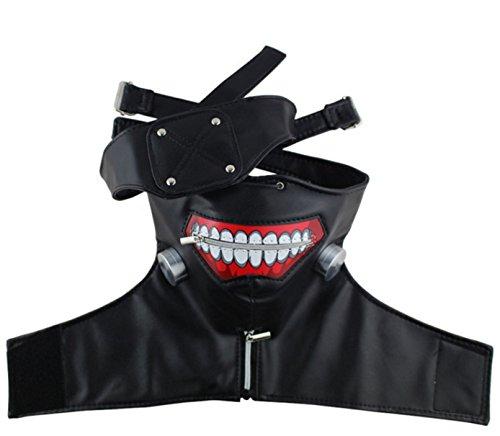 New 2018 Tokyo Ghoul Kaneki Ken Adjustable Zombie Mask Halloween Cosplay PU Leather Mask