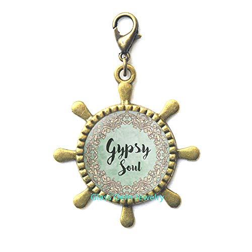 Gypsy Soul Ruder Reißverschluss, Gypsy Soul Karabinerverschluss, Zigeunerruder, Reißverschluss, Zigeunerschmuck, Boho-Rutder-Reißverschluss, Q0193