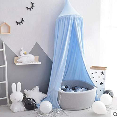 JBHURF Kinder Moskitonetz Baldachin europäischen und amerikanischen Baby Dome hängen Moskitonetz Bett Bett geeignet für zu Hause Schlafzimmer Kinderbett (Color : Blue)