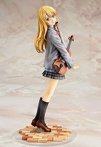 MNZBZ Figuras de Anime Anime Your Lie in April Miyazono Kaori 1/7 Escala Pintada PVC Figura de colección Modelo de Juguete Aproximadamente 20 CM