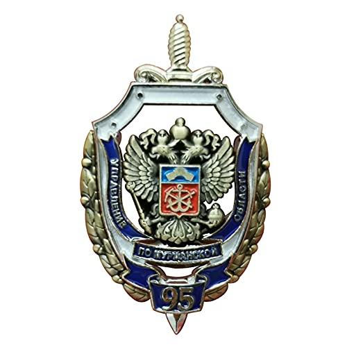 Medalla soviética,insignia conmemorativa del Ministerio del Interior de la Unión Soviética,con exquisita caja de almacenamiento roja,medalla de recuerdo de la Segunda Guerra Mundial,regalo militar