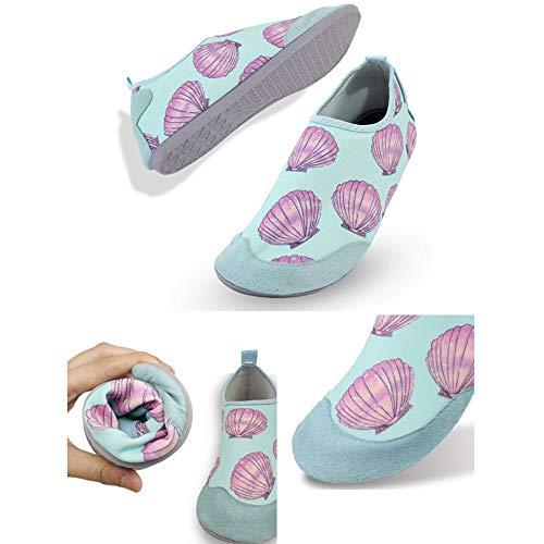 CSLOKTY Hommes Femmes Chaussures Barefoot Quick Dry Eau De Plage Slip on Sport Chaussettes Aqua Hauteur du Talon: 9 MM Children-XL