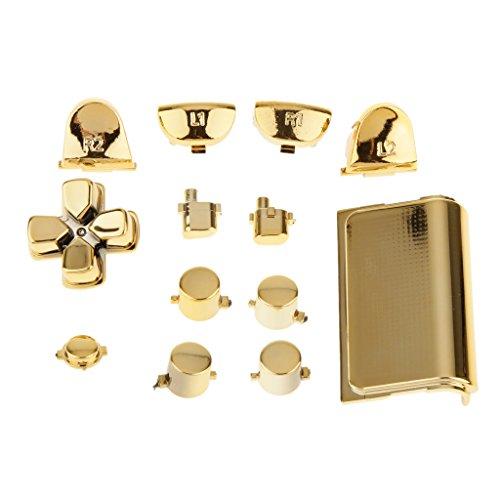 Sostituzione Tasti Pulsanti Cromatura E Touchpad Per PS4 Controllore - Oro