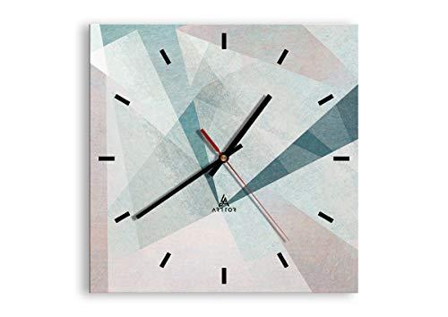orologio da parete quadrato Orologio da parete - Quadrato - astrazione moderna - 30x30cm - Orologio da parete - Orologio in Vetro - Orologio Da Muro - Orologio Da Parete Moderno - Decorazione Parete - Home Decor - C3AC30x30-3947