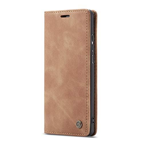 JMstore hülle kompatibel mit Xiaomi Redmi K30 Pro/Poco F2 Pro, Leder Flip Schutzhülle Brieftasche Handyhülle mit Kreditkarten Standfunktion (Braun)