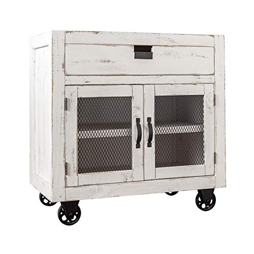 BOWERY HILL 2-Door Accent Chest in White