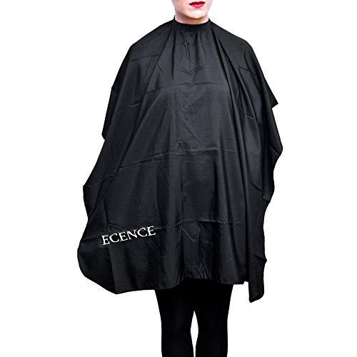 ECENCE Professioneller Friseurumhang mit Hakenverschluss für Kinder und Junge Heranwachsende 120x100cm Haarschneideumhang, wasserabweisend, leichte Reinigung