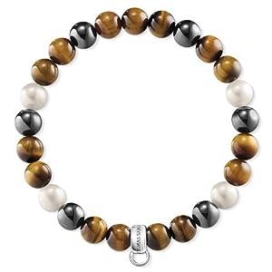 Thomas Sabo Damen-Armreifen Künstliche Perle X0218-948-2-L17,5
