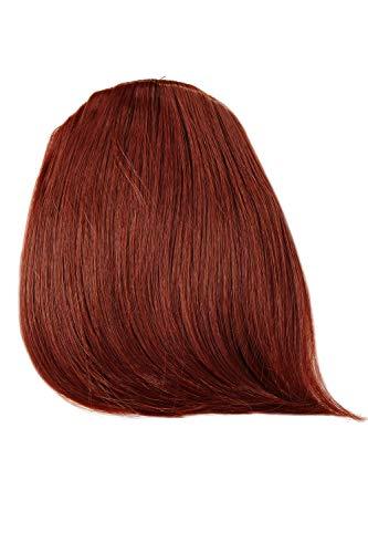 WIG ME UP - Frange clip-in recourbée extension résistante à la chaleur raie rouge foncé YZF-W1031-35