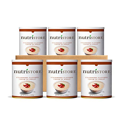Nutristore Strawberry Cream of Wheat #10 Can | Premium Variety Ready to Eat Meals | Bulk Emergency Food Supply | Breakfast | MRE | Long Term Survival Storage | 25 Year Shelf Life
