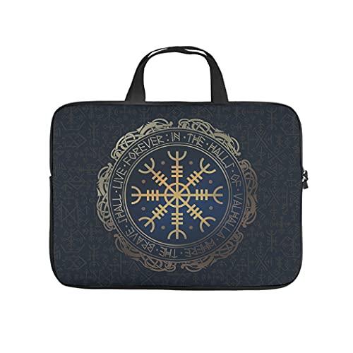 Vikingo Vegvisir Compass - Bolsa de mano impermeable para portátil para hombres, mujeres, niños y niñas, White (Blanco) - Elucassi-stdnb