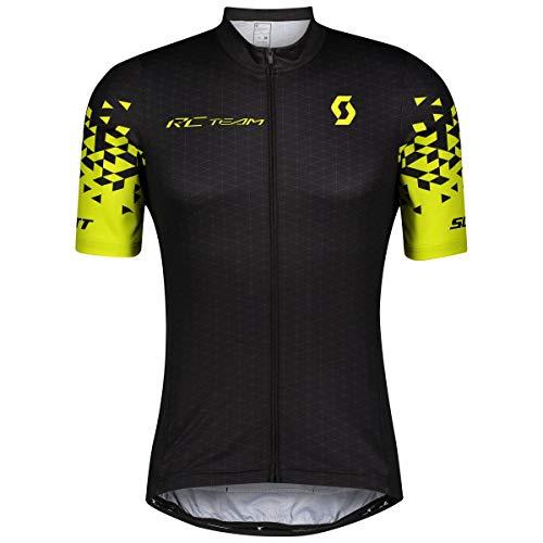 Scott RC Team 10 Fahrrad Trikot kurz schwarz/gelb 2021: Größe: L (50/52)