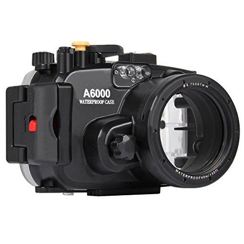 Vivienda subacuática de la cámara de la Prenda Impermeable de la Caja del Salto de los 40m for Sony A6000 Color múltiple