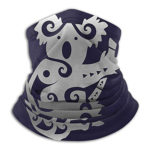 Overlooked Shop Maori Koala Bandanas Calentador de Cuello Diadema Bufanda Cubierta de Boca Cubiertas faciales para Hombres y Mujeres
