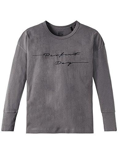 Schiesser Mädchen Mix & Relax Shirt 1/1 Schlafanzugoberteil, Grau (Grau 200), 176 (Herstellergröße: L)