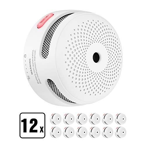 X-Sense Rauchmelder Mini Feuermelder mit 10 Jahren Batterielaufzeit, TÜV und EN14604 Zertifizierter Rauchwarnmelder, Feueralarm mit Fotoelektrischem Sensor, XS01 (12er Set)