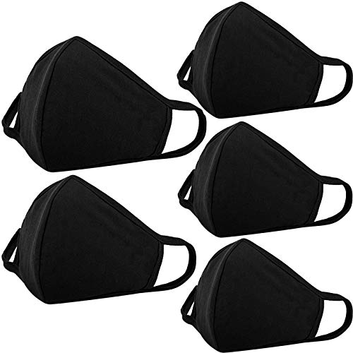 5-Pack Reusable Washable Soft Face Protection with Nose Bridge Wire Breathable Dust proof Mouth Protector for Teens Boys Girls Adult Women Men Outdoor