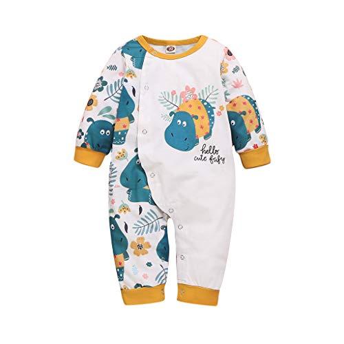 YONSIN Baby Body Süß Mädchen Junge Strampler Neugeboren Nilpferd Druckn Babykleidung Kinder Lustig Spielanzug Übersteigt Sommer Herbst Schlafanzug, 0-24 Monate