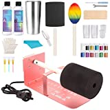 Cup Turner Full Kit with Tumbler Turner, Epoxy Resin, Glitter Powder, Stainless Steel Tumbler and 27 PCS Epoxy Resin Tools for Glitter Epoxy Tumblers DIY Crafting