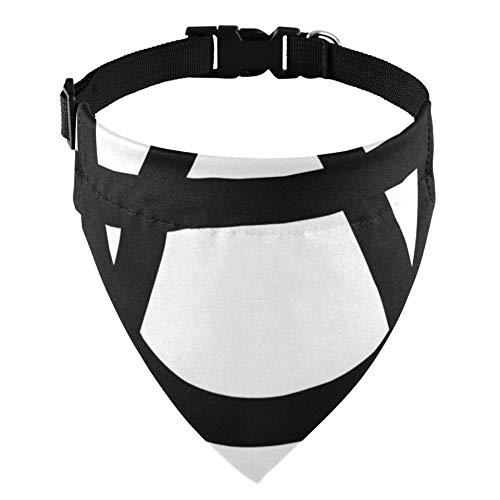 JEOLVP Smbolo de la anarqua Aislado en Blanco Collar de martingala Collar de martingala de Perro para Perros Collares de martingala de Gato para Mascotas Accesorios de Disfraz de Mascota par