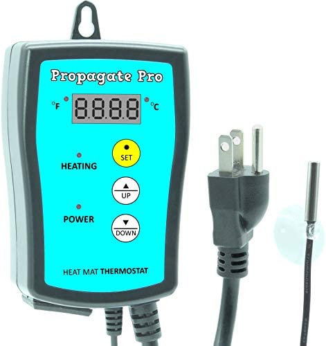 Plug in 1000 Watt Heating Thermostat Outlet 34 108 F by Propagate Pro 110V 120V Heat Mat Heater product image