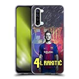 Head Case Designs Licenciado Oficialmente FC Barcelona Ivan Rakitic 2017/18 First Team Group 1 Carcasa de Gel de Silicona Compatible con OPPO Find X2 Lite 5G