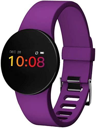 JIAJBG Fitness Tracker Smart Fitness Tracker/Smart Pulsera, Pedómetro D3P Color Pedómetro Pulsera Inteligente, Pulsera para Niños Mujeres Men Sport Fitness Tracker Moda/Púrpura