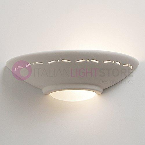 Romantica Applique Lampada da Parete Decorabile In Ceramica Gesso Colorabile Verniciabile- Linea Ceramica- Illuminazione Interni