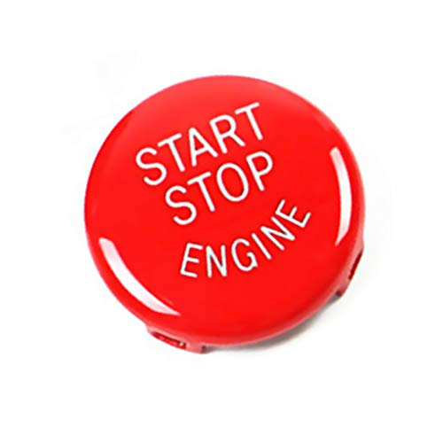 Jaronx Sports Red Start Stop Button for BMW (1 3 5 6 X1 X3 X5 X6 Series,E81 E90 E91 E60 E63 E84 E83 E70 E71),Engine Switch Power Ignition Start Stop Button Replacement