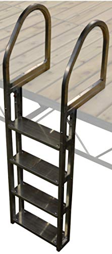 Boondock 4 Step No Slip Aluminum Dock Ladder