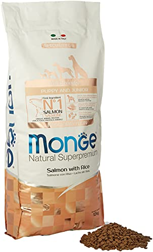 Monge all-Breeds Puppy Salmone-Riso 12 kg