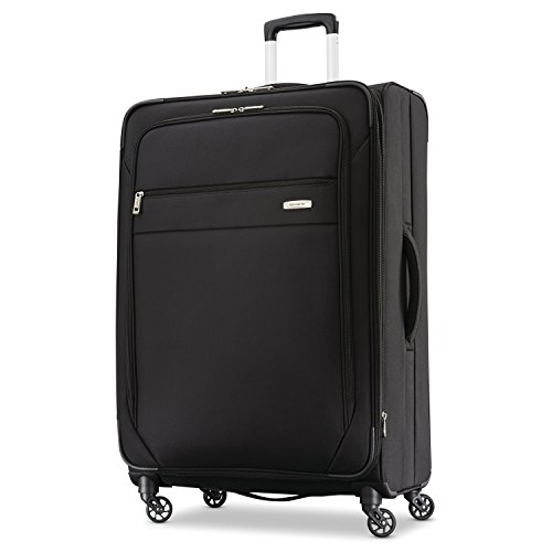 Samsonite Advena Softside Expandable Luggage with Spinner Wheels, Black, Checked-Large 29-Inch