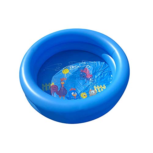 N-B Gpure 1/2 pcs Piscina Desmontables Hinchable Infantil 60 cm Doble Capa Azul, Piscina Inflable Redondo Pequeños Decoración de Dibujos