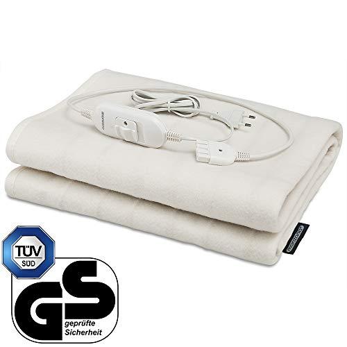 Heizdecke Wärmeunterbett 150x80cm waschbar 60W 2,6m Kabel elektrisch Überhitzungsschutz