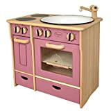 Unbekannt Drewart Kinderküche Landhaus, rosa - Spielküche aus Holz