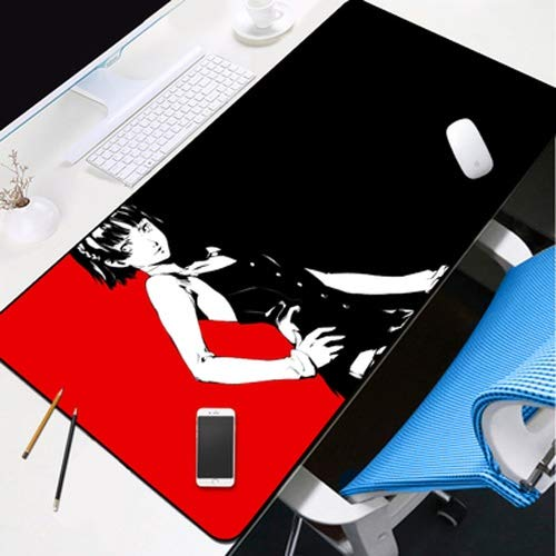 DMWSD Mauspad Desktop-Pad Persona 5 Anime Game Character Makoto Niijima Königin Split Hintergrund Maxi-Anti-Rutsch-Matte Professionelle Gaming Mouse Pad Notebook Desktop-Notebook Peripherals