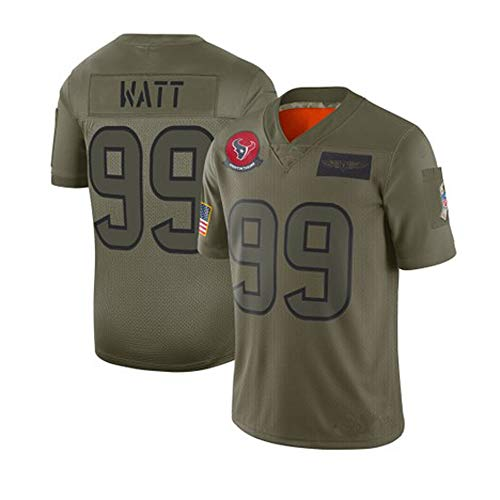 Rugby Jersey, NFL Texas 4# Watson, 99# WATT Tribute to Rugby Clothing Fan Edition Embroidered Men's T-Shirt S-3XL