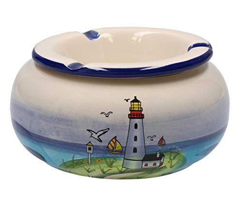 Tony Brown - Maritimes Leuchtturm Geschirr aus Keramik (Aschenbecher groß)