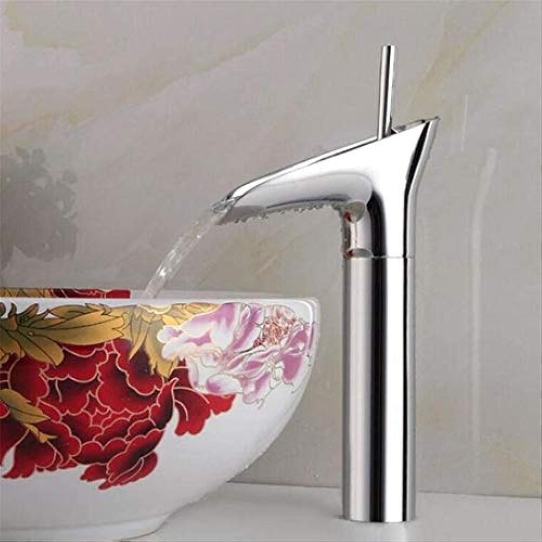 Wasserhahn Küche Bad Garten Waschtischarmaturen Bad Wasserfall Wasserhahn Messing Warm Und Kalt Ctzl5850