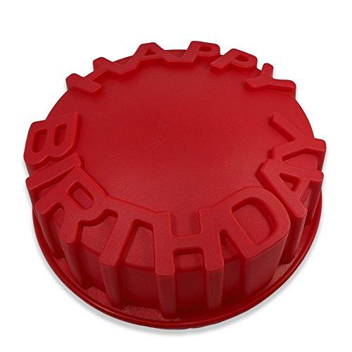 FantasyDay® 1 Cavités Ustensiles à pâtisserie Antiadhésif Moule en Silicone pour Muffins, gâteau au Chocolat, Moule à savons, Cupcake Et Gelée - Forme de Joyeux Anniversair
