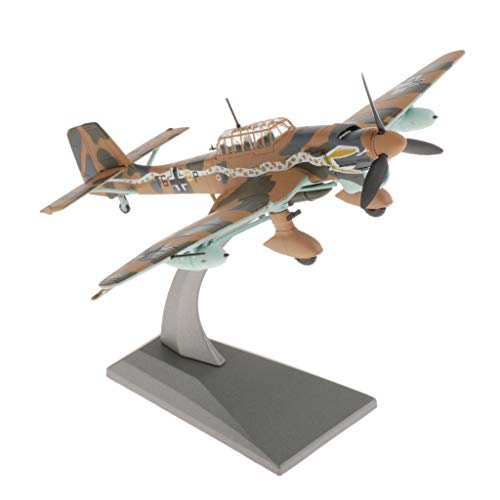 Sharplace 1:72 Avión Bombardero JU87 Diecast Modelo del Ejército Decoración de Avión