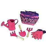 Kindergarten Kits Pflanzen Set Anbau Auf Handwerkzeuge Mit Aufbewahrungstasche Im Freien Strand Spielzeug-Set Rosa