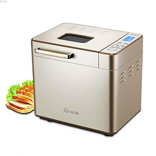 Automatische broodbakmachine Programmeerbare broodmachine met glutenvrij zitten, LED-display, visueel menu (25 programma's, 3 broodmaten,3 korstkleuren,13 uur vertragingstimer,1 uur warm houden)