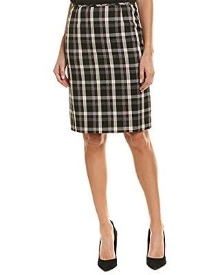 Tahari by ASL Womens Novelty Plaid Skirt