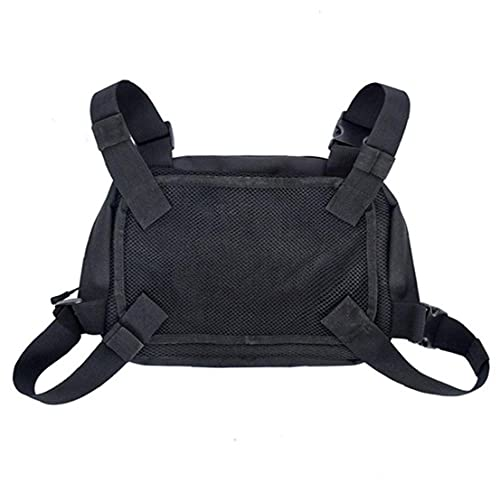 Uayasily Universal Radio Harness Chest Rig Bag Pocket Pack Holster Vest for Sports Camping Hiking Fitness Travel