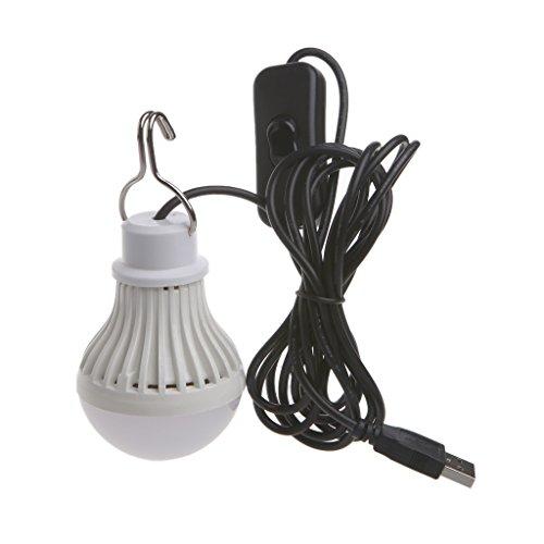 kdjsic Portátil USB LED Bombilla Interruptor LED Camping Linterna Tienda Iluminación 5W