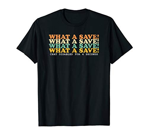 What A Save Chat Disabled Vintage Retro Rocket Soccer Game T-Shirt