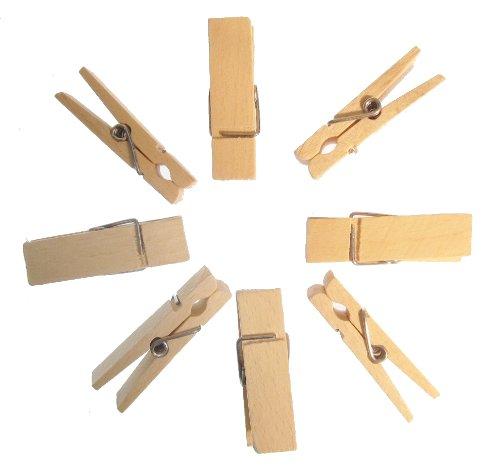 hagspiel 100 mollette da bucato in legno di faggio, Mini, 45 mm di lunghezza, 18 mm di larghezza