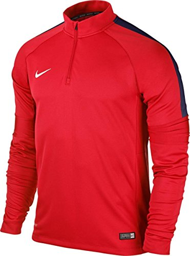 Nike Kinder Sweatshirt Ignite Squad 15, Crimson/Obsidian/White, XS